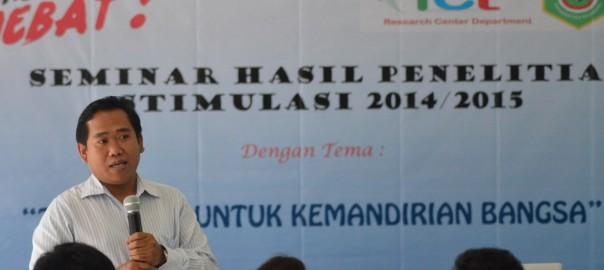 Seminar Hasil Penelitian Stimulus 2014 / 2015