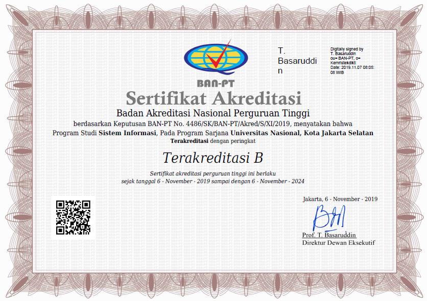Akreditasi Sistem Informasi 2019
